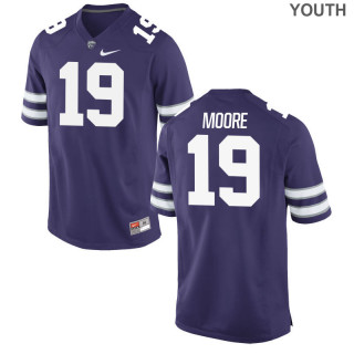 Youth  Game Purple Kansas State Wildcats Alumni Jersey | Colby Moore